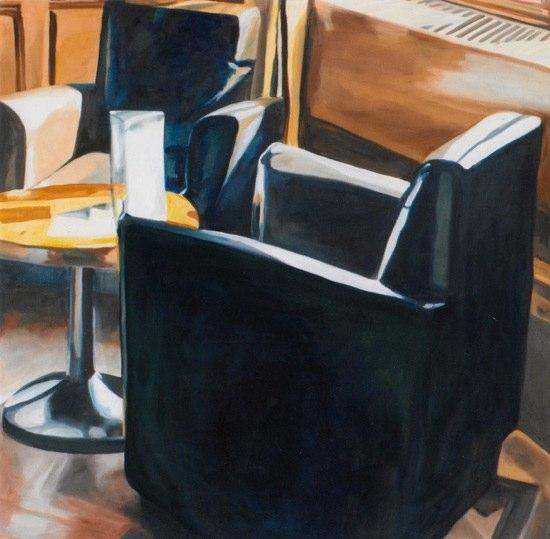 """Sessel III"" · Öl auf Leinwand · 100 x 100 cm"