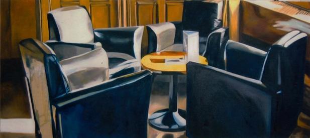 """""""Sessel V"""" · Öl auf Leinwand · 90 x 210 cm"""
